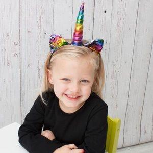 Other - NWT! Boutique Flip Sequin Unicorn Headbands